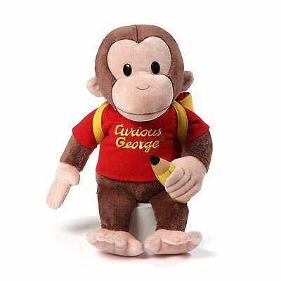 Gund Curious George Backpack Back to School Stuffed Plush Toy - NEW, by GUND!!