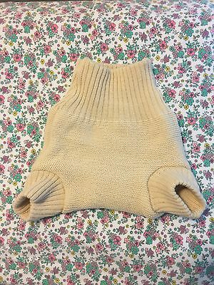 disana wool diaper cover soaker size 3-6 months color natural
