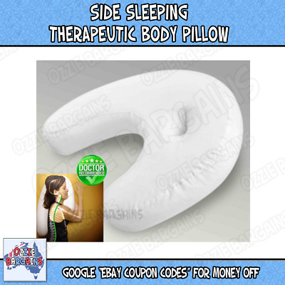* NEW * Side Sleeping Therapeutic Body Pillow Neck & Back Spine Sleep