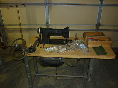 Singer 111W151 industrial sewing machine with table and TONS of accessories!