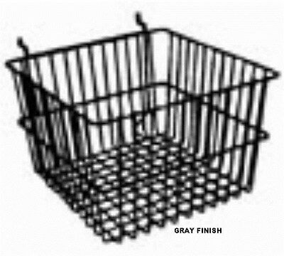 """Store Display Fixtures NEW 12""""W x12""""D x 8""""H MULTI PURPOSEGRAY FINISH WIRE BASKET"""