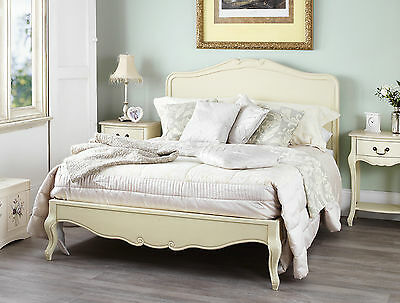 French Style Cream Painted 6FT SUPERKING BED Rochelle Bedroom Furniture