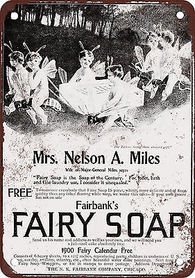 "7"" x 10"" Metal Sign - 1899 Fairy Soap - Vintage Look Reproduction"