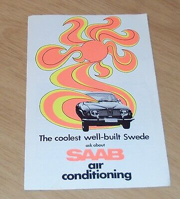 "VTG ca 1970 ADVERTISING Brochure ""SAAB AIR CONDITIONING"" Swedish Automobile~"