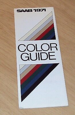 "VTG 1971 INTERIOR & Exterior 'COLOR GUIDE' for ""SAAB"" Swedish Automobile~"