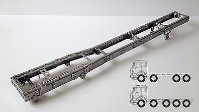 Chassis Frame 8x4 LONG for Tamiya 1/14 truck STEEL!!!