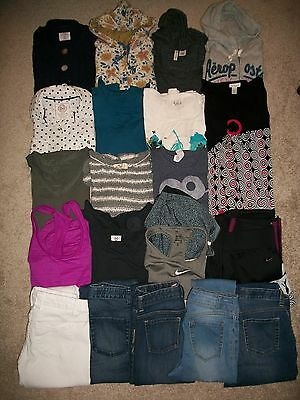Guc! Lot Of 21 Girls Size 14S 16 S Namebrand Fall Winter Hollister Nike Old Navy