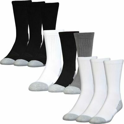 "PACK OF 3"" Under Armour 2017 HeatGear Tech Crew Socks Training Mens Sports Socks"