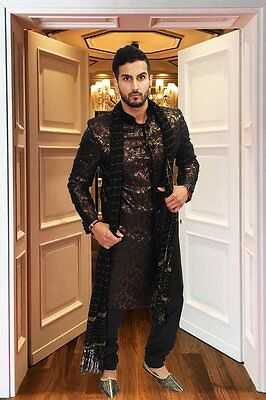 """UK Chest Size 42"""" Mens Sherwanis Indian Wedding Bollywood Party Various Styles"""