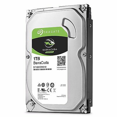 "Disco duro interno HDD 1TB Seagate Barracuda 3,5"" SATA III 7200RPM SATA3 1000GB"