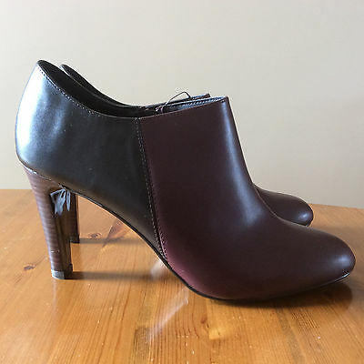 afbaf42246b Women s Next Forever Comfort Black Burgundy Ankle Boots  Town Shoes Size 7