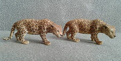 2 Schleich Jaguar Toy Figures