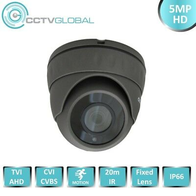 5MP TVI AHD HD CCTV SURVEILLANCE GREY DOME CAMERA SONY CMOS 3.6mm LENS 20m IR