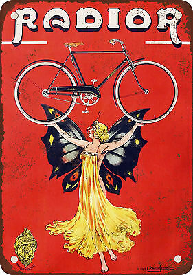 "7"" x 10"" Metal Sign - 1953 Radior Bicycles - Vintage Look Reproduction"