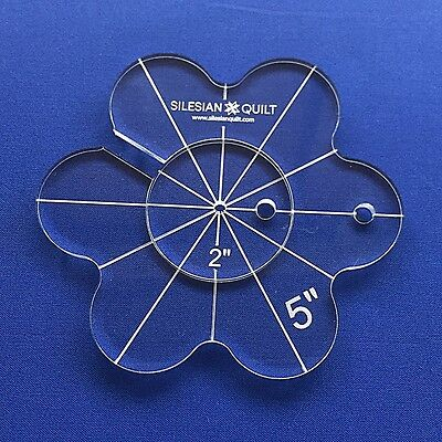 Quilting Template: Flower 5 inches