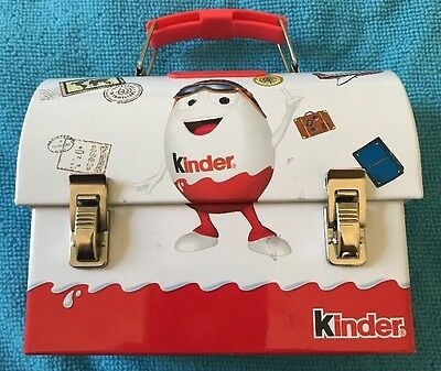 Kinder Chocolate Tin Box Coin Bank Lunch Choco Box Money Mascot