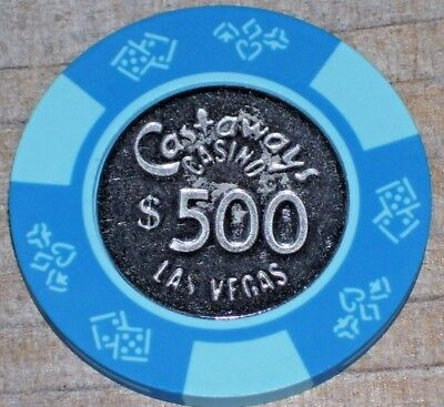 $500 Vintage 11Th Edition Gaming Chip From The Castaways Casino Las Vegas