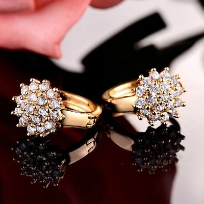 18K Yellow Gold Diamond Cluster Earrings   278
