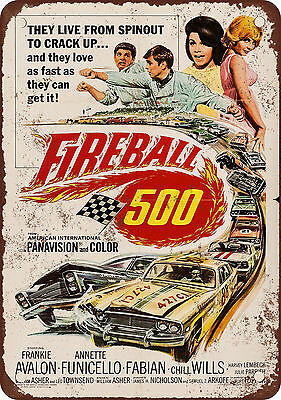 "7"" x 10"" Metal Sign - 1966 Fireball 500 Movie - Vintage Look Reproduction"