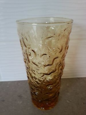 Vintage Anchor Hocking Lido Milano Amber Gold Replacement 12 Oz Drinking Glass