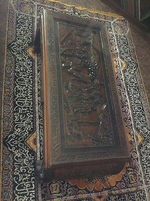 Vintage Asian Carved Scene Coffee Table