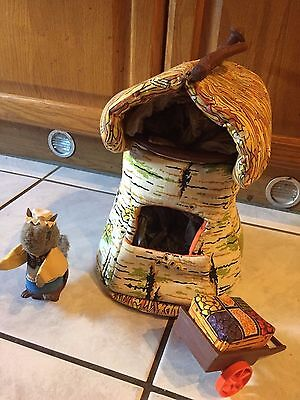 Fisher Price Woodsey 1980 Vintage Squirrel Tree House Set with Accessories