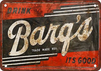 "7"" x 10"" Metal Sign - Barq's Root Beer - Vintage Look Reproduction"