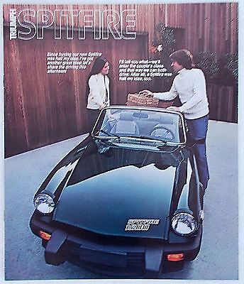 Original 1978 Triumph Spitfire 1500 Car Sales Brochure Dealer Catalog