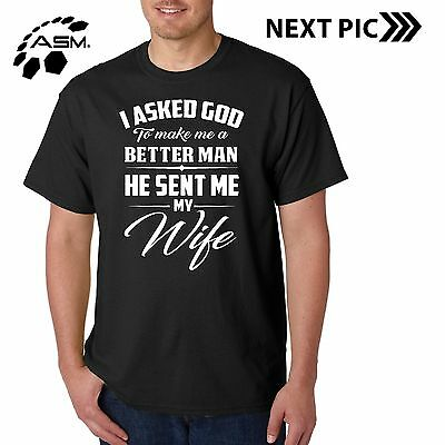 New Married Men Couples Funny Husband T Shirt Graphic Tee Wife S M L XL 2XL 3XL