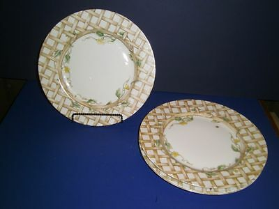 Fitz and Floyd POTAGER Chargers Plates FOUR 1978 Spring Arbor Rare/Excellent