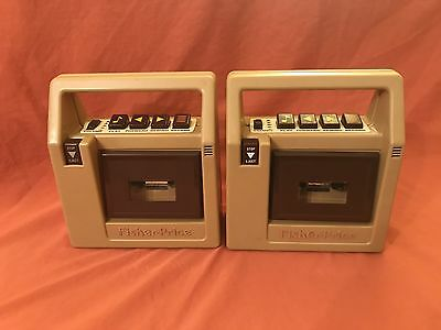 Vintage Fisher Price Tape Recorder Lot Of 2