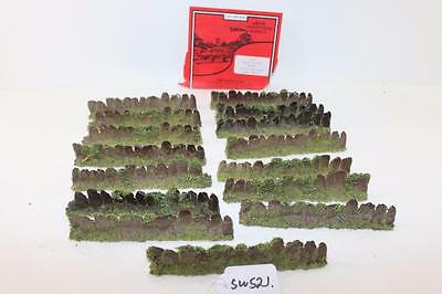 "14 x Javis OO 1:76 Slab Slate Walling with Foliage PW6 ""New"" FNQHobbys SW521"