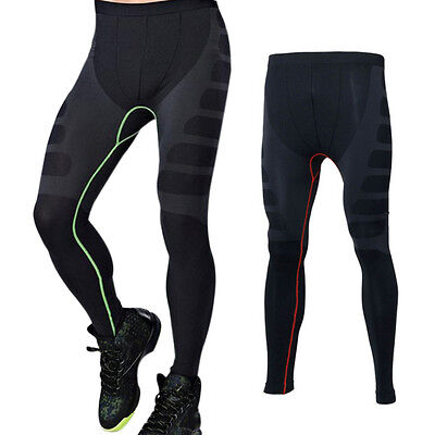 New Men's Sports Leggings Jogging Tights Fitness Quick Drying Compression Pants