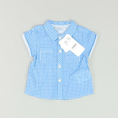 Camisa color Azul marca Mayoral 6 Meses