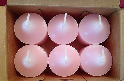 PartyLite RASPBERRY RAPTURE Votive Candles V06771 New 6 NIB Light Pink Retired