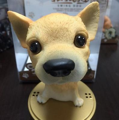 Chihuahua Dog/Brown Bobbing Head Dogs/ BobbleHead Doll Toy+Pedestal+Essence Bag