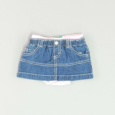 Falda vaquera color Denim oscuro marca Benetton 3 Meses