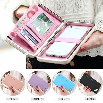 Lovely Women Female Long Wallets Purse Clutch Bags Phone Case For iPhone 6 Plus