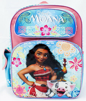 "Disney Moana Large Backpack 16"" school backpack NEW!"