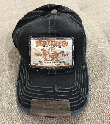 True Religion Vintage Unisex Distressed Buddha Trucker Hat Cap New Nwt