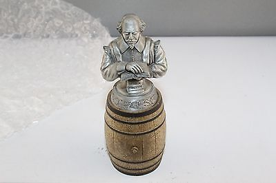 Sterling Classics Wine Stopper and Barrel Holder William Shakespeare Mint n Tube