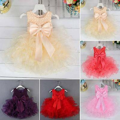 Flower Girl Dress Formal Princess Pageant Wedding Birthday Party Bridesmaid