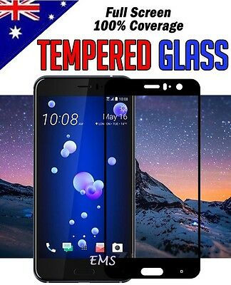 FULL COVERAGE Tempered Glass Film Screen Protector Guard for HTC U11