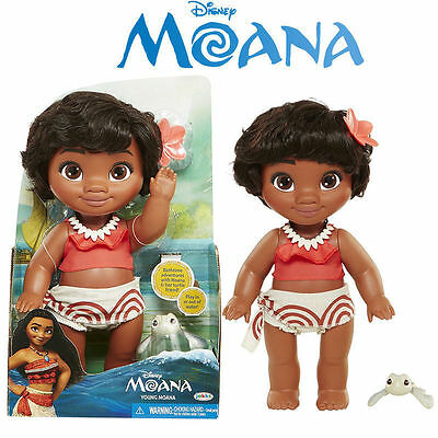Disney Young Moana Doll Bathtime Water Action Figure Flexible Funny Kid Toy Set