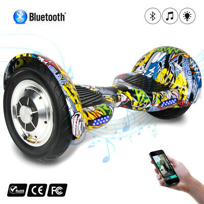 """10"""" Elettrico Scooter  Luci Led Bluetooth Speaker Self Balance Smart Hoverboard"""