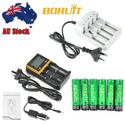 Genuine BORUiT Rechargeable 3.7V 6000mah 18650 Li-ion PCB Smart Battery Charger