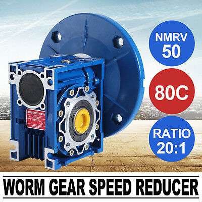 MRV050 Worm Gear 20:1 80C Speed Reducer HQ Available 1750RPM 1.14HP Equipment