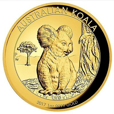 2017 $25 Australian Koala 1/4 oz Gold Proof coin - Perth Mint
