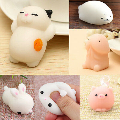 Mochi Soft Animal Squeeze Stretch Compress Squishy Relief Decompression Toy