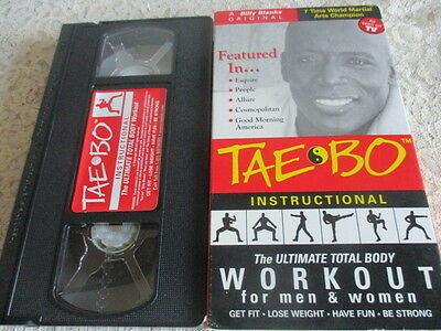 Billy Blanks Original Tae Bo The Ultimate Total Body Workout for Men & Women VHS